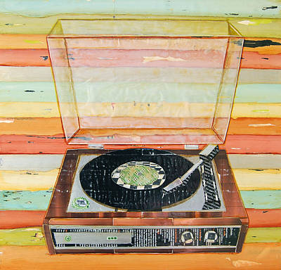 Whimsical Mixed Media - Put A Needle On The Record by Danny Phillips
