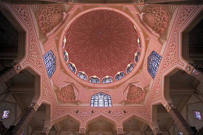 Water Droplets Sharon Johnstone - Putra Mosque Moorish Interior Dome Architecture by Jit Lim