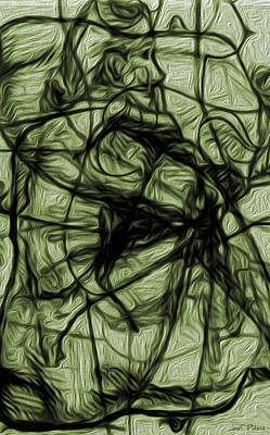 Rhythm And Blues Digital Art - Putsche R 11 Holding On To Anger by Sir Josef - Social Critic -  Maha Art