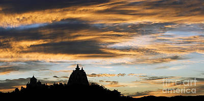 Baba Photograph - Puttaparthi Sunset by Tim Gainey