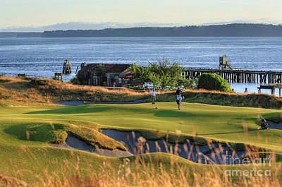 Photograph - Putting 17 - Chambers Bay Golf Course by Chris Anderson