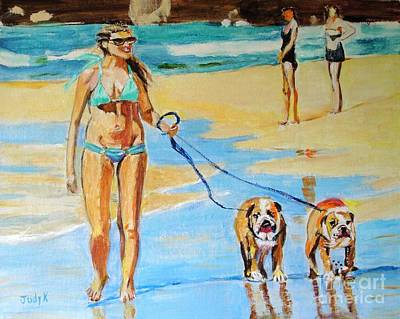 Painting - Putting On The Dog by Judy Kay