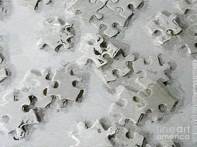 Digital Art - Putting Puzzle Pieces Together by Heidi Smith