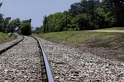 Railroad Photograph - Putting Things In Perspective by Barry Jones