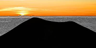 Mauna Kea Digital Art - Puu Silhouette by Dan Sabin