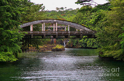 Photograph - Puueo Bridge Hilo Hawaii By Diana Sainz by Diana Raquel Sainz