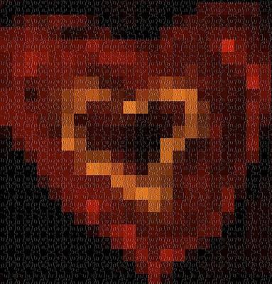 Puzzle Heart Original by Dana G