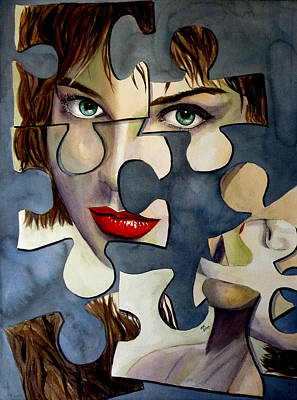 Painting - Puzzled by Michal Madison