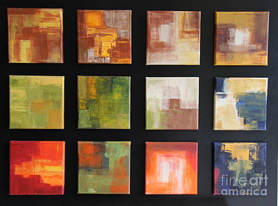 Puzzle Vi - Abstract Painting Original by Christiane Schulze Art And Photography
