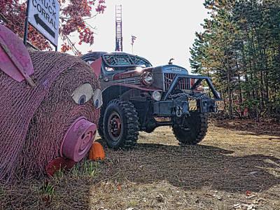 Digital Art - Pw-3 The Pig by Don Kleinschmidt