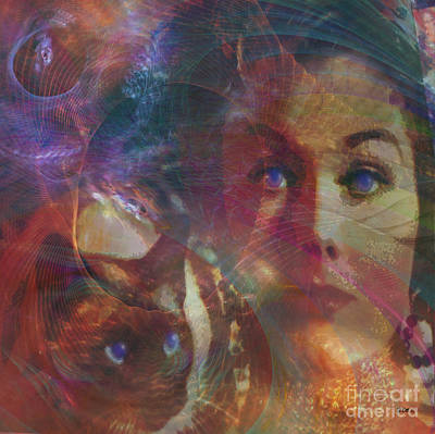 Digital Art - Pyewacket And Gillian - Square Version by John Beck