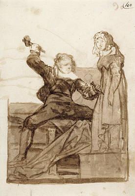 Pygmalion And Galatea Francisco José De Goya Y Lucientes Art Print