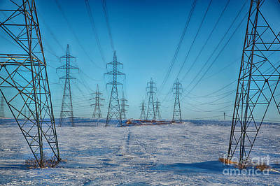 Pylons Abstract Art Print by Isabel Poulin