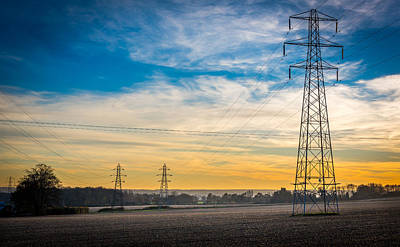 Photograph - Pylons At Sunset by Gary Gillette