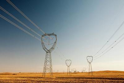 Pylons Crossing China Art Print
