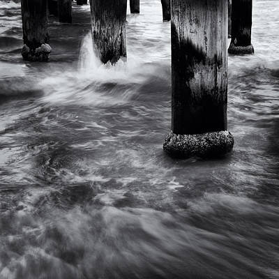 Seaford Photograph - Pylons by Tim Nichols