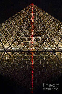 Photograph - Pyramid - Louvre Courtyard by Crystal Nederman