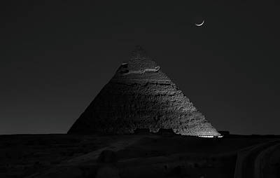 Egypt Wall Art - Photograph - Pyramid At Night by Vincent Chen