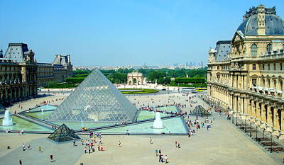 Art Print featuring the photograph Pyramid At The Louvre by Kay Gilley