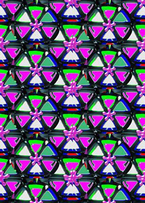 Champion Mixed Media - Pyramid Dome Triangle Purple Elegant Digital Graphic Signature   Art  Navinjoshi  Artist Created Ima by Navin Joshi