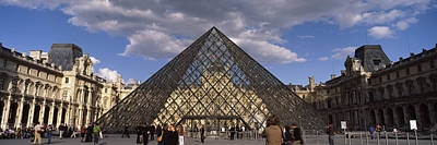 Pyramid In Front Of A Building, Louvre Art Print