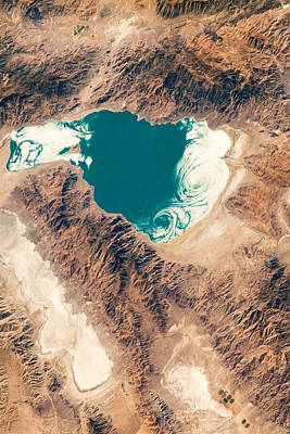 Nevada Photograph - Pyramid Lake Aerial View by World Art Prints And Designs