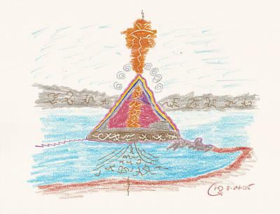Drawing - Pyramid Lake - Nevada by Mark David Gerson
