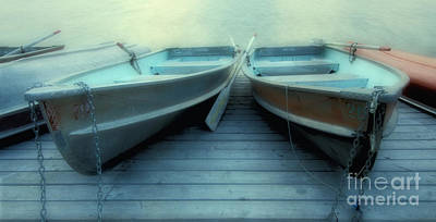 Quiet Time Photograph - Pyramid Lake Row Boats by Bob Christopher