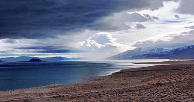 Photograph - Pyramid Lake Sunrise Nevada by SB Sullivan