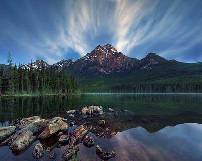 Banff Photograph - Pyramid Light by Juan Pablo De