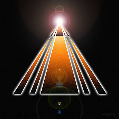Pyramid Of Light Art Print