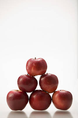 Pyramid Of Organic Apples Art Print