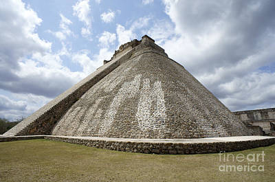 Photograph - Pyramid Of The Magician Uxmal by John  Mitchell
