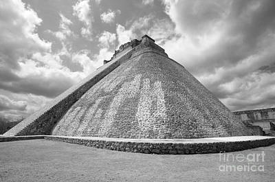 Photograph - Pyramid Of The Magician Uxmal Mexico by John  Mitchell