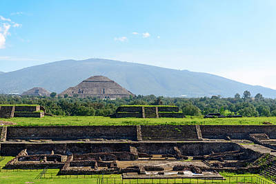 Photograph - Pyramid Of The Moon And The Pyramid Of The Sun In Mexico City by Marek Poplawski