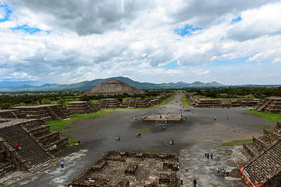 Photograph - Pyramid Of The Sun And Avenue Of Dead As Viewed From Pyramid Of  by Marek Poplawski