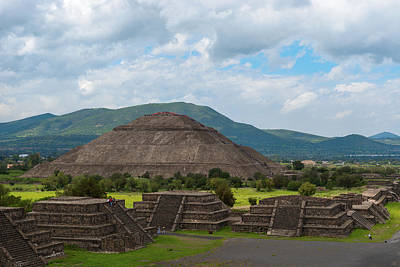 Pyramid Of The Sun As Viewed From Pyramid Of The Moon Mexico Art Print