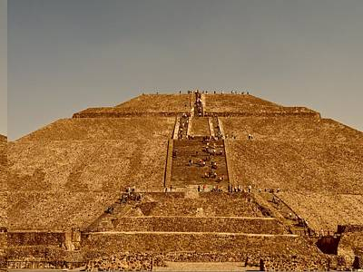 Pyramid Of The Sun Photograph - Pyramid Of The Sun At Teotihuacan by Science Photo Library