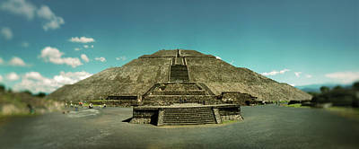 Pyramid Of The Sun In The Teotihuacan Print by Panoramic Images
