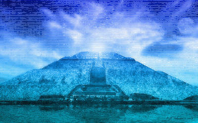 Pyramid Of The Sun Art Print by WB Johnston