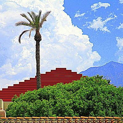 Photograph - Pyramid Palm Springs by Randall Weidner