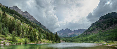 Photograph - Pyramid Peak And The Maroon Bells by Adam Pender