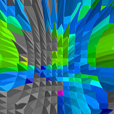 Architektur Digital Art - Energy-pyramids by Ramon Labusch
