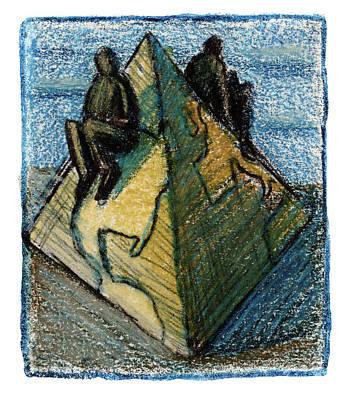 Pyramid Art Print by Steve Dininno