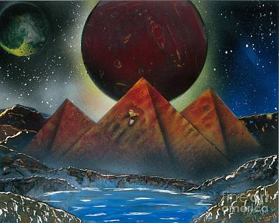 Painting - Pyramids 4663 by Greg Moores