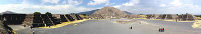 Ancient Civilization Photograph - Pyramids At An Archaeological Site by Panoramic Images