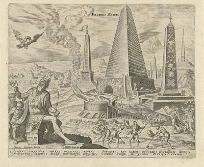 Clay Drawing - Pyramids Of Egypt, Philips Galle, Hadrianus Junius by Philips Galle And Hadrianus Junius