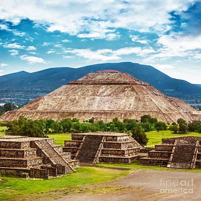 Maya Civilization Photograph - Pyramids Of Mexico by Anna Om