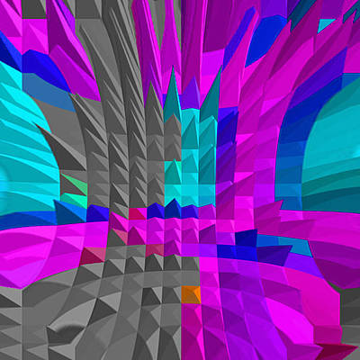 Energy-pyramids Art Print