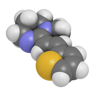 Pyrantel Antinematodal Drug Molecule Art Print